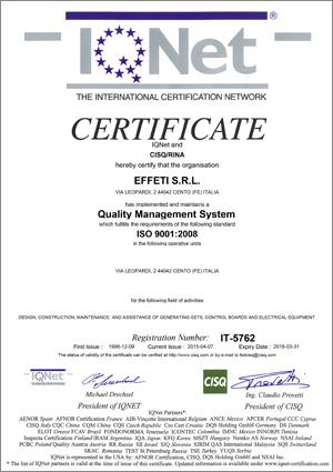 ISO9001_2008_CISQ_RINA_CERTIFICATE
